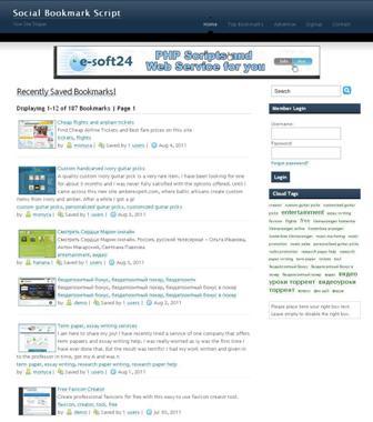 Social Bookmark Script screenshot