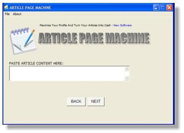 Article Page Machine Screenshot