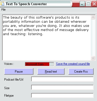 Text to Speech Converter Screenshot